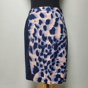 Club Monaco Pencil Skirt Cheetah Print 8